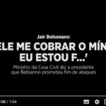 Em novo áudio, Bolsonaro tenta negociar com Bebianno