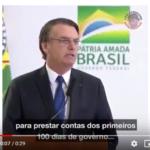 Bolsonaro nem com teleprompter consegue fazer um discurso