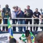 Ato em apoio a Bolsonaro no Rio, teve até ataque à imprensa